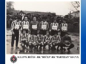 HANDBALL RK PARTIZAN 1970.