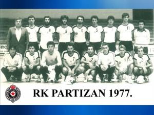 Handball RK PARTIZAN 1977.