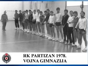 Handball RK Partizan 1978
