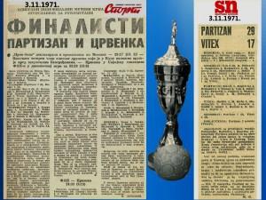 Handball - Rukomet - YU KUP 1971.