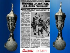 Handball rukomet RK Crvena zvezda 12.9.1974 .1974