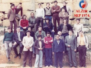 Handball-Rukomet-RK Crvena Zvezda-AlgeIr 1974.