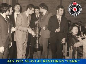 Handball-Rukomet-jan 1972.-RK PARTIZAN-proslava YU kupa