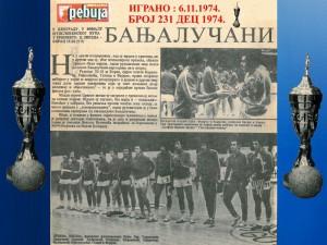 Handball rukomet finale kupa YU RK Crvena zvezda - RK Borac Banja Luka 6.11.1974 .1974