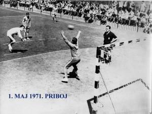 Handball 1971. Dragan stanić goalkeeper