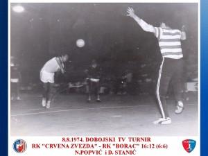 HANDBALL 8.8.1974. TV TURNIR DOBOJ