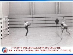 HANDBALL POLUFINALE KUPA 17.10.1974. CRVENA ZVEZDA