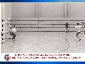 HANDBALL POLUFINALE KUPA 17.10.1974. CRVENA ZVEZDA-HERCEGOVINA