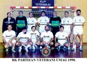 Handball-Rukomet-1990-veterani RK Partizan-Umag