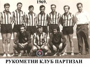 Handball-Rukomet-RK PARTIZAN 1969.