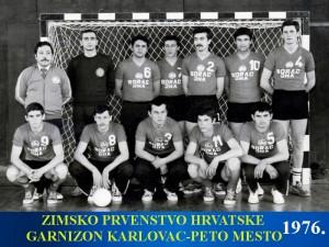 Handball-Rukomet-Garnizon Karlovac 1976.
