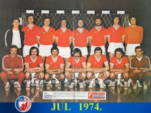 Handball-Rukomet RK Crvena zvezda 1974.