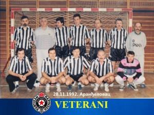 Handball rukomet Veterani RK Partizan 1992.